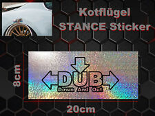 Deep Down Garde-boue Sticker autocollant Bord Garde-boue arête Deep Illest Stance