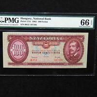 1962 Hungary 100 Forint, Pick # 171c, PMG 66 EPQ Gem Unc.