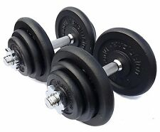 50 KG Cast Iron Dumbbell Set Dumbbells Weights Fitness Exercise Home Gym Sets