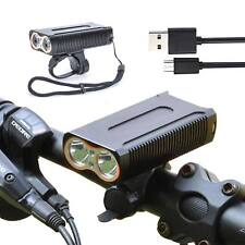 Super Bright 2000LM CREE T6 LED Mountain Bike Head Light USB Rechargeable