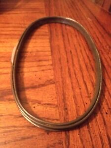 """Vintage 8 1/2"""" Oval Metal Spring Loaded Tension Cork Lined Round Embroidery Hoop"""