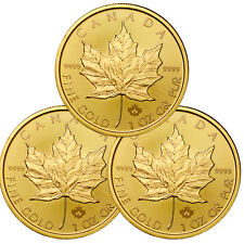 2017 Canada $50 1 oz. Gold Maple Leaf -Lot of 3 Coins SKU44198