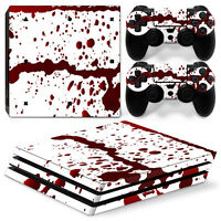 Sony PS4 Playstation 4 Pro Skin Aufkleber Schutzfolie Set - Blood Motiv