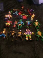 Vintage Teenage Mutant Ninja Turtles Lot Playmates Action Figures 1988-1992