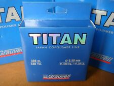 NYLON GRAUVELL TITAN 300 M ( 0,50 MM- 21,5 kg / 47,3 Lb  )