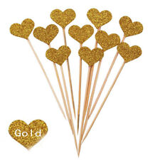 10/30pc Love Heart Birthday Cupcake Toppers Party Baby Shower Wedding Cake Decor
