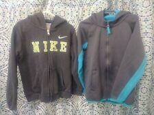 2 Boys Zippered Hooded Jackets Both Size Medium, Nike & Osh Kosh