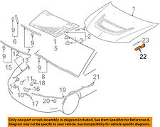 MITSUBISHI OEM 02-06 Lancer Hood-Hinge Left MR487633