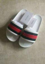 Women's Gucci White slides - Rubber Flip Flops / Sandals / Slippers EU-36