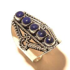 Lapis Lazuli Gemstone Silver Plated Handmade Ring Jewelry