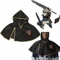 Asta Black Clover Team Black Bull Hooded Black Short Cloak Cosplay Costume Anime