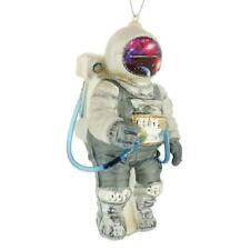 "ASTRONAUT GLASS ORNAMENT 5"" Space Suit Retro Sci Fi Christmas Tree NASA Spaceman"