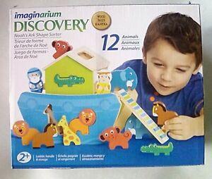 Imaginarium Noah's Ark Discovery Wood 12 Piece Animal  Shape Sorter NIB