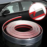 Exterior Car Silver Chrome Adhesive Strip Trim Molding Styling Decor 2.5m*30mm