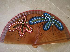 Spain Flamenco Hand Fan Case Fan Folding Fan Wooden B Braun