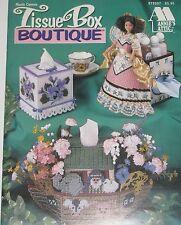 Annie's Attic Plastic Canvas Pattern Book TISSUE BOX BOUTIQUES  879207 Noahs Ark