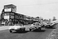 Jaguar E-Type – Jaguar XK-E model year 1961 Oulton Park photograph racing photo