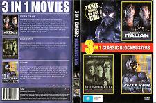 Lookin Italian-1974-Jay Acovone/Kounterfeit-1996/Guyver:Dark Hero-1994-Movie-DVD