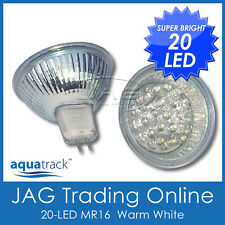 12V AC/DC 20-LED WARM WHITE MR16 DOWN LIGHT GLOBE/BULB - House/Ceiling/Downlight