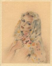 Edouard Chimot Modern Reprint - Roses des sables #7 - Ready to frame