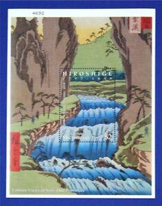 B051 MICRONESIA Japanese Paintings by Hiroshige S/S MNH
