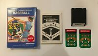 World Championship Baseball (Intellivision 1986) VINTAGE - CIB COMPLETE IN BOX