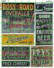 1017 DAVE'S DECALS HO SCALE 1:87 BOSS ROAD BUILDING GHOST SIGNS ADVERTISING