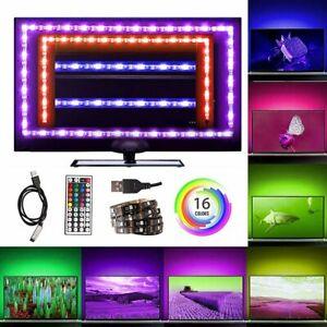 1m-5m RGB 5050 TV Backlight Under Cabinet LED Strip lights USB 44key Remote 16ft