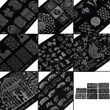 1pcs Nagel-Kunst-Druckplattenbild Schablone Plates Nageldesign Stempel Platte