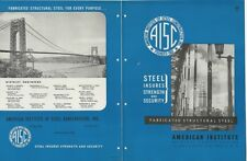 1947 AISC American Institute Steel Construction Structural Buildings VTG Catalog