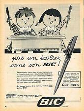 PUBLICITE ADVERTISING 124  1959  BIC   stylo bille pour écolier par Tag