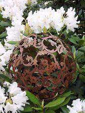 Deko Kugel Ranke in Edelrost Optik groß 10140 Dekoration Garten Terrasse Schale
