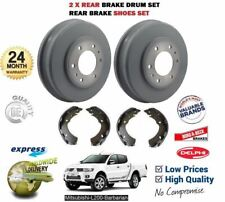 FOR MITSUBISHI L200 BARBARIAN 2.5 DID 2006->NEW 2x REAR BRAKE DRUM + SHOES SET