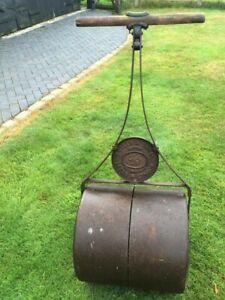 Garden Lawn Roller - Vintage / Antique Cast Iron Twin Drum