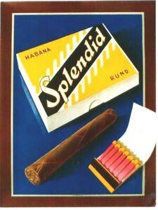 Original vintage poster HABANA SPLENDID CIGARS MATCHES 1948