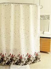 Paintbrush Red and Black Fabric Shower Curtain Splash Home Modern Art 70x72