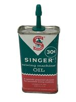 Singer Sewing Machine Tin Oil Can 4oz Handy Oiler .30c EMPTY Made in USA Vintage