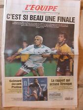 L'Equipe du 20/4/1999 - L'OM pour une place en finale de la Coupe UEFA- Golmard