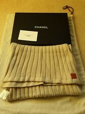 CHANEL 100% WOOL OATMEAL COLOUR LADIES LONG SCARF