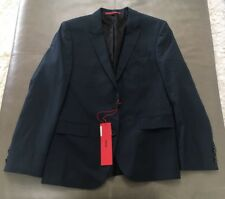 NWT Hugo Boss Aeron2 Hamen2 Slim Fit 100% Wool Navy Blue Blazer Jacket 40S $895