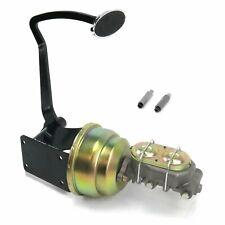 40-48 Chevy 7 Dual Brake Pedal kit Disk/DrumLg Oval Chr Pad cylinder master