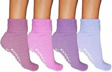 LADIES WOMENS THERMAL GRIPPER SLIPPER SOCKS LOUNGE WEAR WINTER WARMTH SIZE 4 - 6