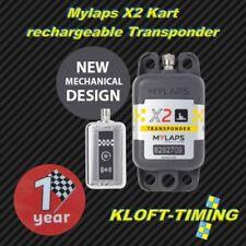 MYLAPS x2 Kart-Transpondeur Incl. 1 année fonction Chargeable incl. accessoires NEUF