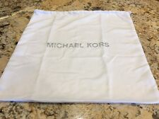 "Michael Kors Dust Bag Drawstring Handbag White Silver Handbag 18.5"" X 18.5"" EUC"
