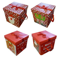 quality christmas eve gift box large xmas present wrapping boxes red ribbon lids - Large Christmas Gift Boxes