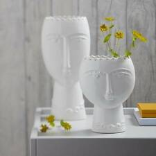 Small Modern White Lady Ceramic Vase, simple elegance at its best. 19 X 13.5cm