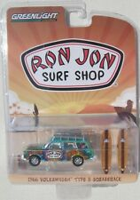 GREENLIGHT RON JON SURF SHOP 1966 VOLKSWAGEN TYPE 3 SQUAREBACK With SURFBOARDS