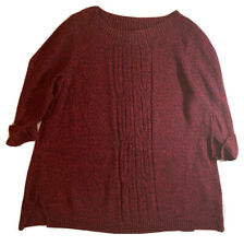 Style & Co. Plus Size Sweater 1X Long Sleeve Pattern  Red / Black