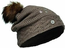 Buff children Junior Knitted Hat and polar cap, Darsy Brown, one size