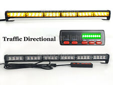 "26"" 24 LED Amber Warn Flash Traffic Advisor Directional Arrow Strobe Light Bar"